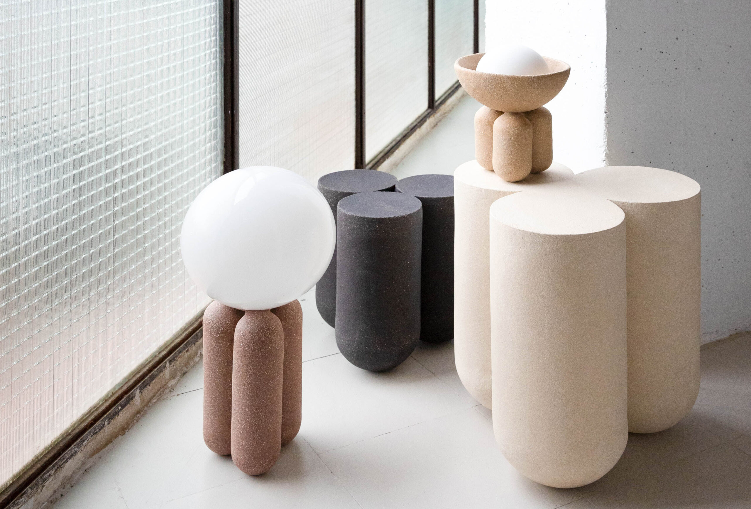 Ceramic furniture - lighting - accessories